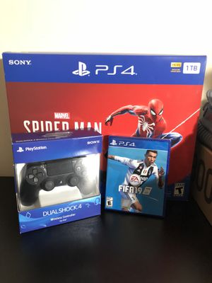 Ps4 Slim 1Tb , New controller and Fifa 19 for Sale in Fairfax, VA