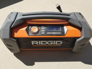 3b11a63356d RIDGID 18-Volt GEN5X Jobsite Radio with Bluetooth Wireless Technology (Tool  Only) for
