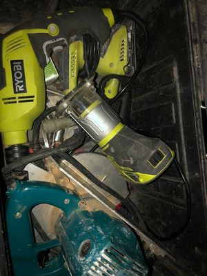 Ridged tool box with a full set of ryobe power tools 300 or best offer for Sale in Orlando, FL