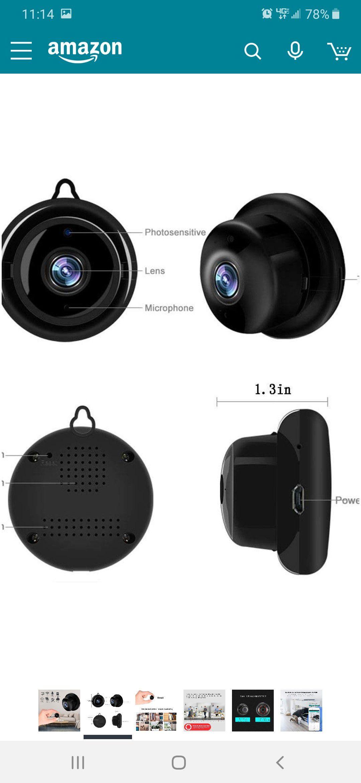TYNEGH mini wireless camera 1080p.