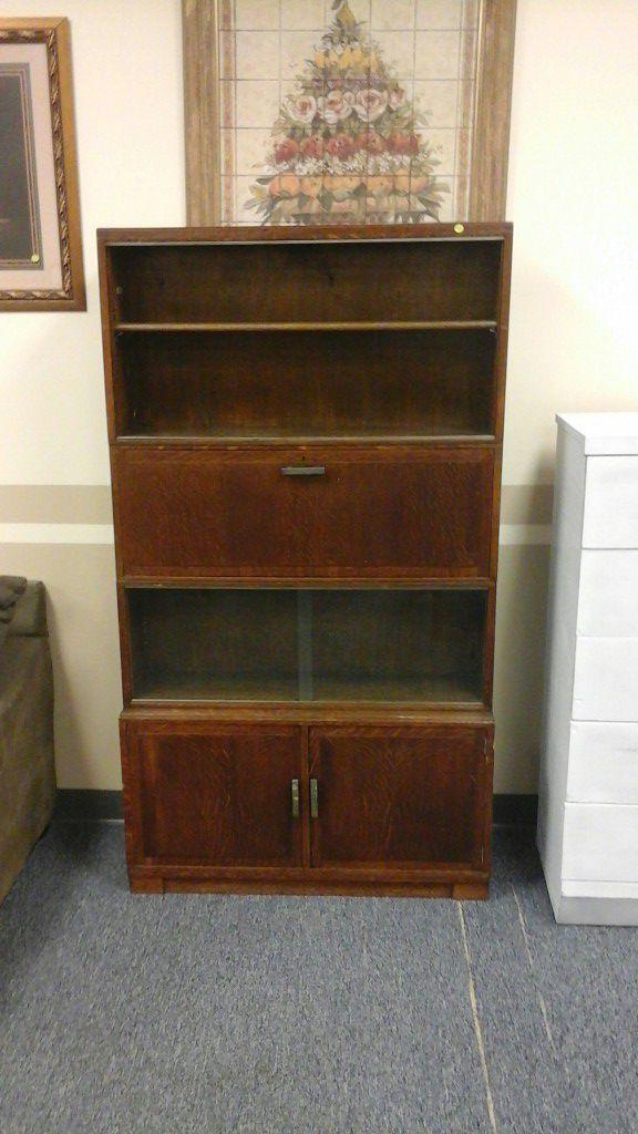 Minty Library Oxford Secretary Desk Tiger Oak Mid Century Modern Furniture In Tulsa Ok Offerup