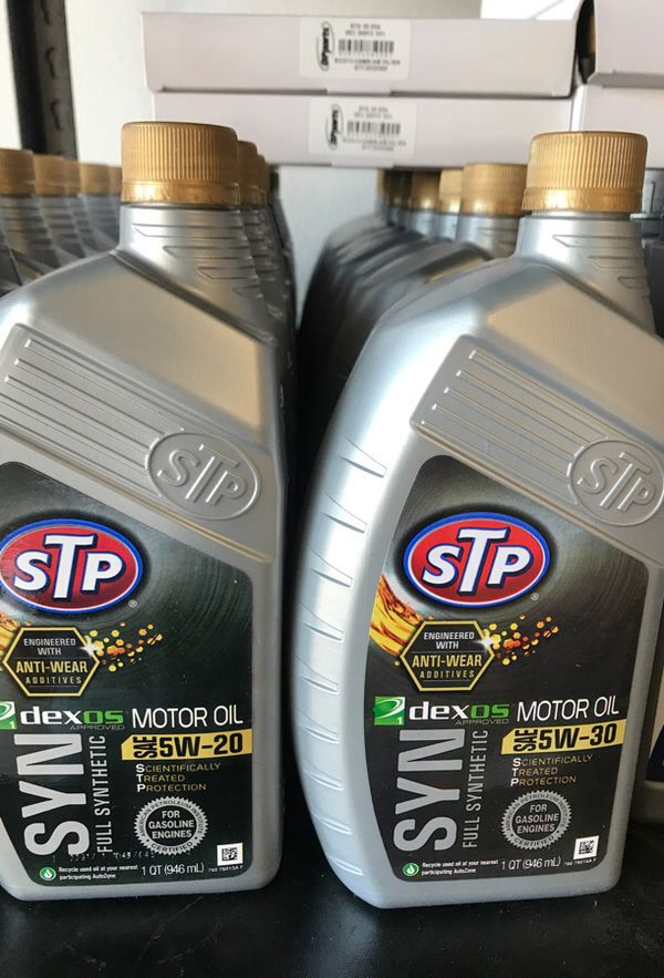 STP Fully Synthetic Motor Oil 5W-30 n 5W-20 for Sale in Irwindale, CA -  OfferUp