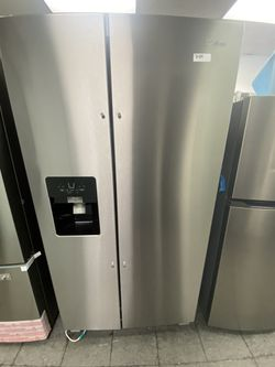 Whirlpool 2 Door Side By Side Stainless Steel Refrigerator Thumbnail