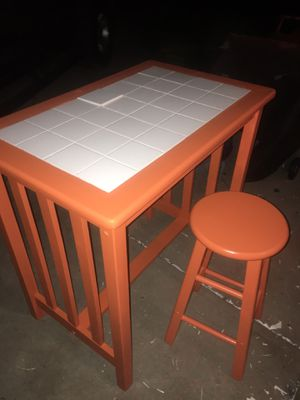 Vintage Table & stool for Sale in North Ridgeville, OH