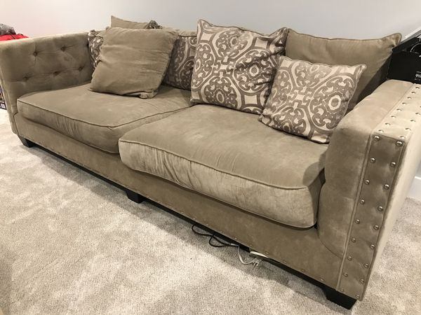Cindy Crawford Calista Microfiber Sofa