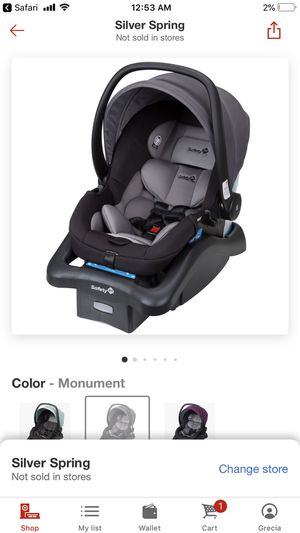 Safety 1st Carseat W/ Base for Sale in Silver Spring, MD