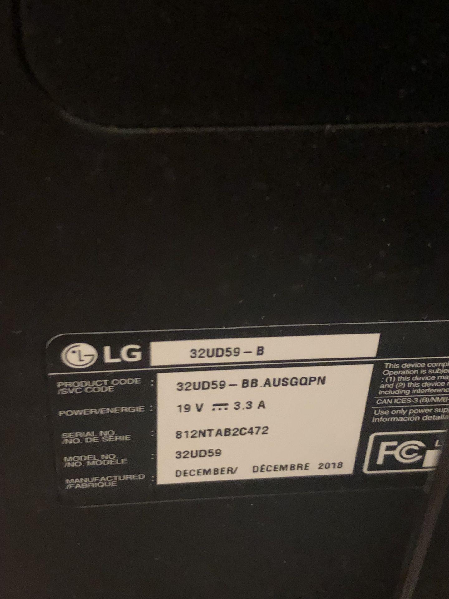 "32"" 4K monitor LG 32UD59-B"