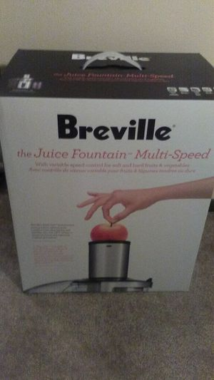 Brand new never opened Breville BJE510XL Juice Fountain Multi-Speed 900-Watt Juicer for Sale in Columbus, OH