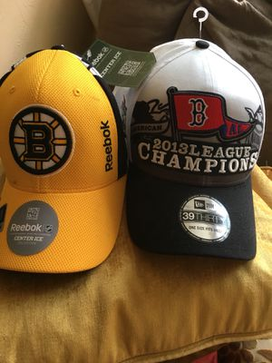 Boston Red Sox Championship Caps!! & Bruins cap By Reebok for Sale in Boston, MA