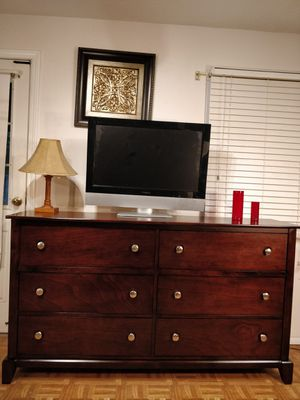 "Nice wooden big dresser/TV stand with big drawers in very good condition, all drawers sliding smoothly, pet free smoke free. L68""*W17""*H38"" for Sale in Annandale, VA"