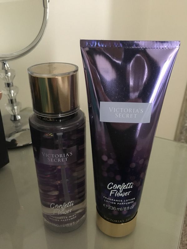 b6c20f295c Victoria s Secret confetti flower body spray and lotion for Sale in ...