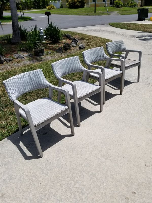 teak and wicker outdoor patio chairs for sale in boca raton fl