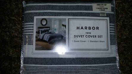 Harbor Twin 2 pc Duvet Cover set Bed Bath & Beyond Thumbnail