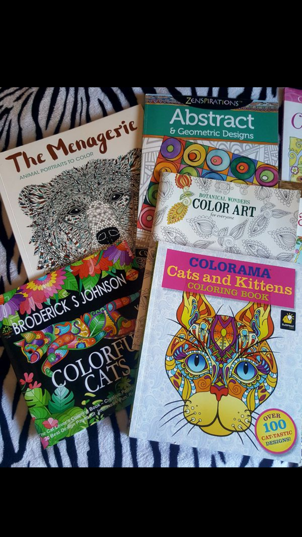 Adult Coloring Book Creative Cats Dazzling Dog Colorama Kitten Animal Abstract Geometric Botanical Folk Art Whimsical Escapes Crayola Christmas Gift For