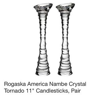 """Nambe 11"""" Tornado Crystal Candlestick Holders for Sale in Portland, OR"""