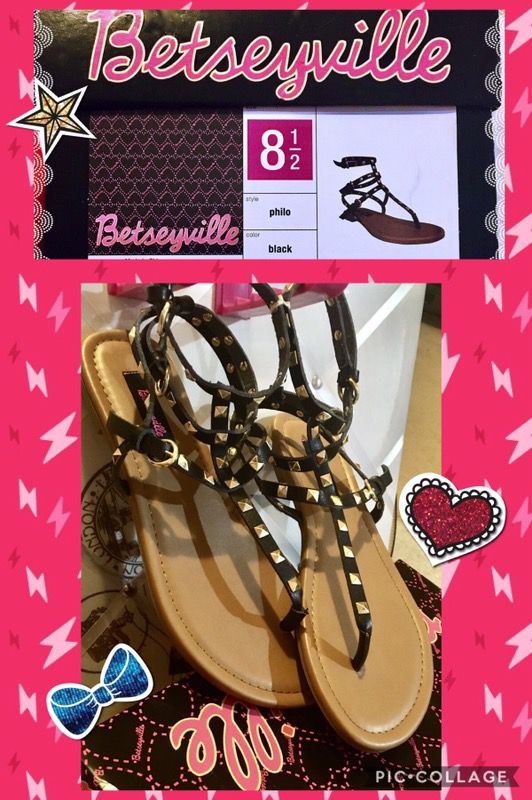2161e0e7d4f NEW!!! Betseyville Pyramid Stud Gladiator Sandals for Sale in Bay ...