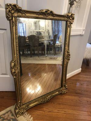 "42""X30"" Antique gold wood mirror for Sale in Gainesville, VA"