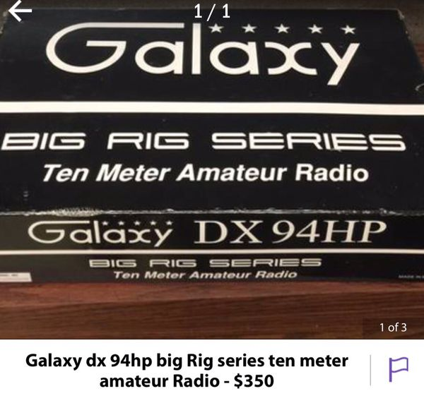 Galaxy dx 94hp big Rig series cb/Ham Radio for Sale in Indianapolis, IN -  OfferUp