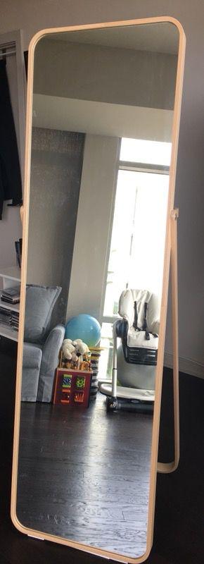 Like New Ikea Ikornnes Floor Mirror W Hanging Rod In Back For Sale In Washington Dc Offerup