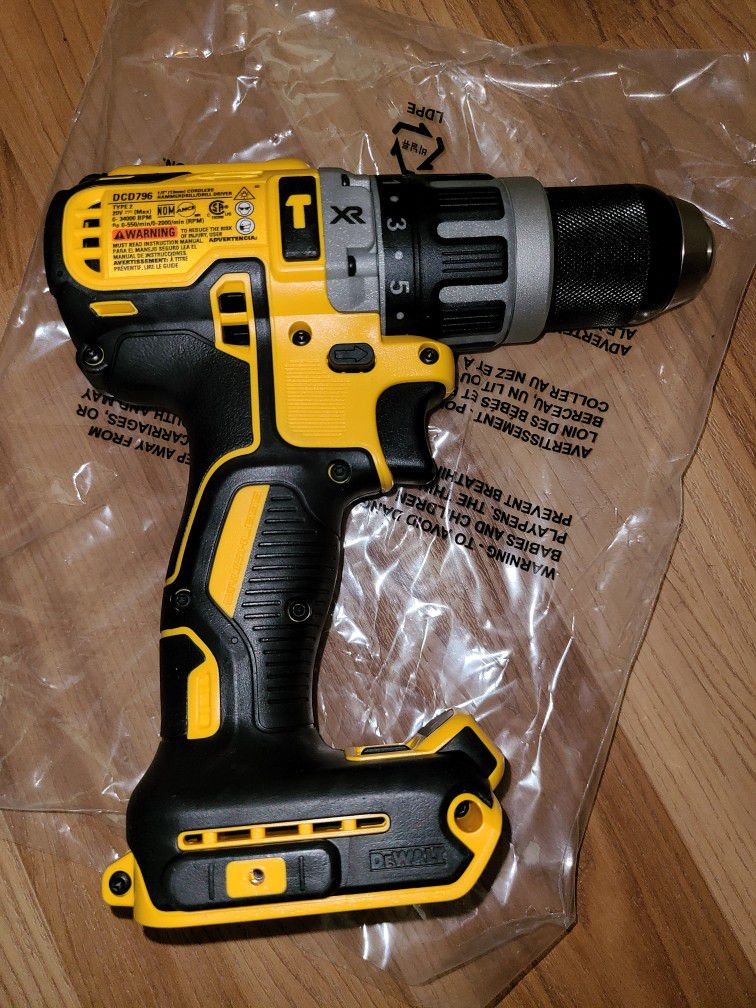 "Brand New Dewalt 20v. XR 1/2"" Hammer Drill Tool Only"