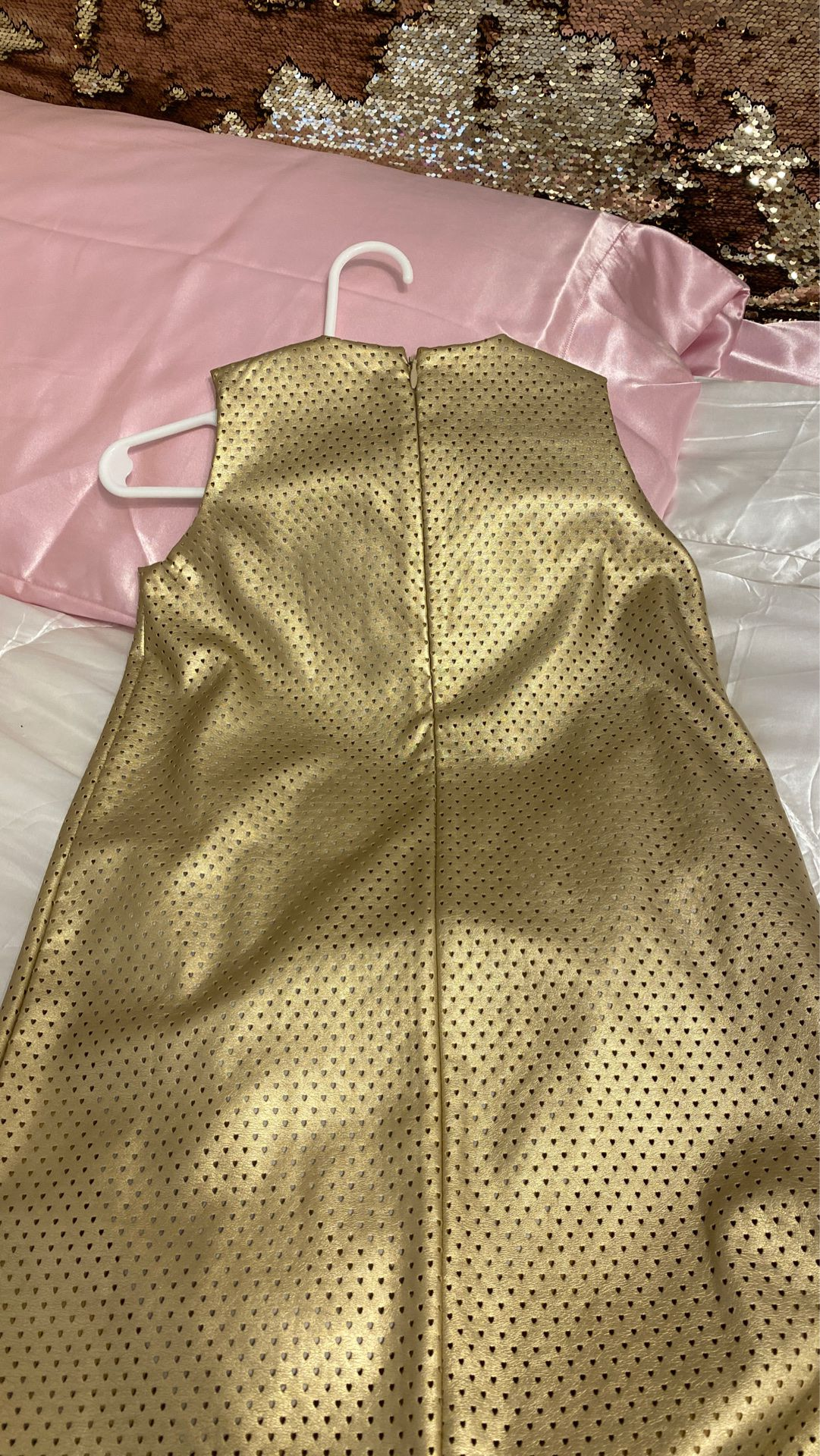 Golden summer dress size 7 girls $10