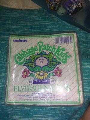 Used, Cabbage patch kids beverage napkins for sale  Wichita, KS
