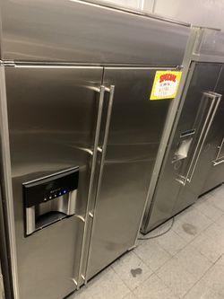 Jenn air built in 48 wide refrigerator stainless steel Thumbnail
