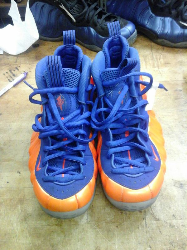 beda446dd333 Nike Air Foamposite Pro size 8.5 blue and orange color 314996-801 ...