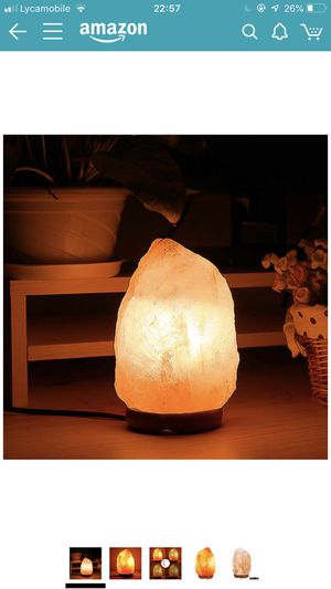 Himalayan Salt Lamp Natural Air Purifier Crystal Rock Salt Light with Dimmable Switch Wood Base for Home, Bedroom, Office Table Decoration for Sale in Las Vegas, NV