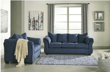 Darcy Blue Living Room Set Thumbnail
