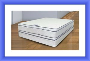 Double sided pillowtop with free box spring and shipping for Sale in Temple Hills, MD