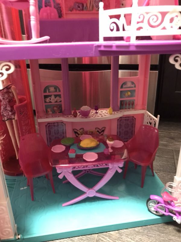 Huge Barbie Dream House With Barbies Pool All Accessories For Sale In Hollywood FL