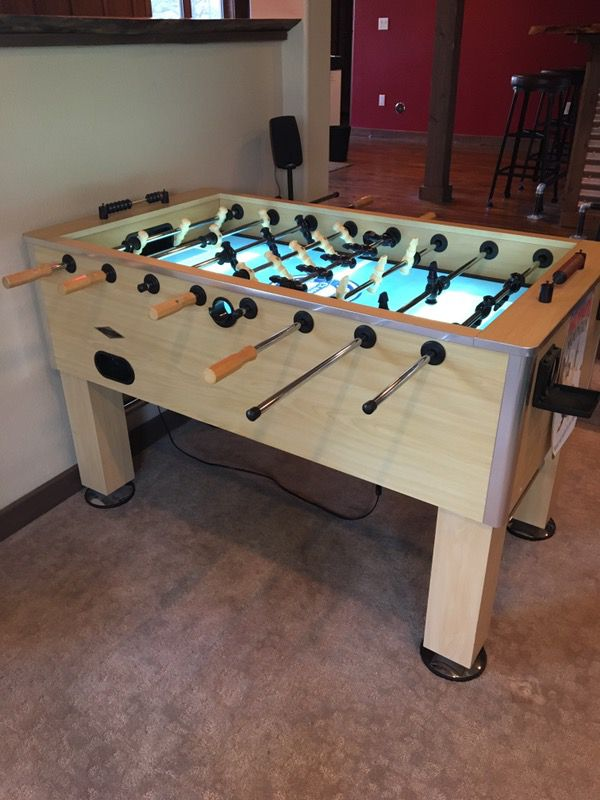 Foosball Table Classic Light Up Phoos Ball Table For Sale In - Foosball table light