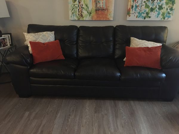 Espresso Faux Leather Sofa Pickup Only For In Orlando Fl Offerup