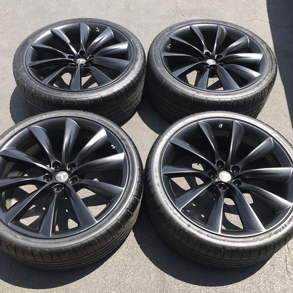 """22"""" oem Tesla Model X factory wheels 22 inch semi gloss ..."""