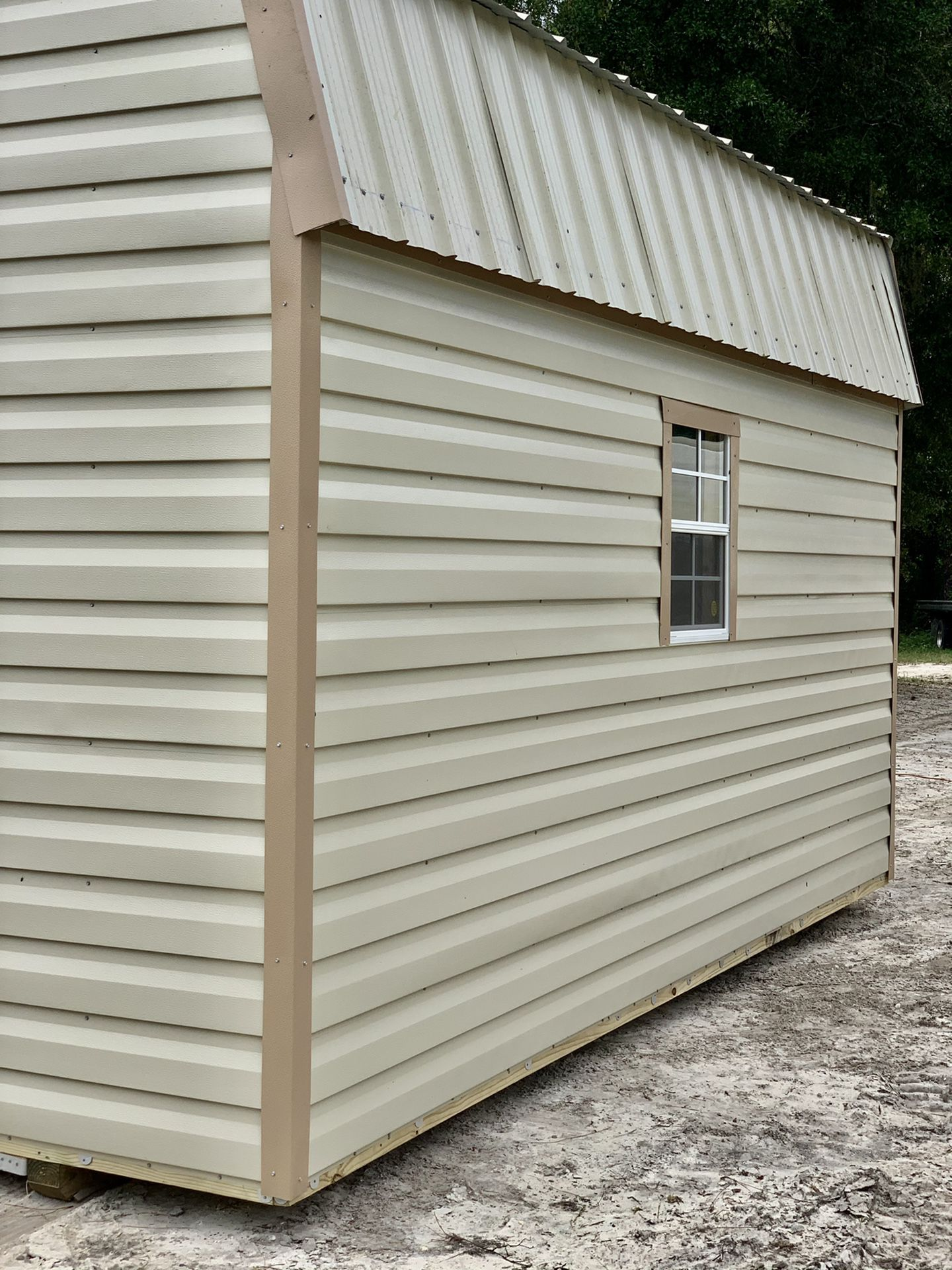 Gambrel storage shed 12x16 storage tiny house home hunting cabin