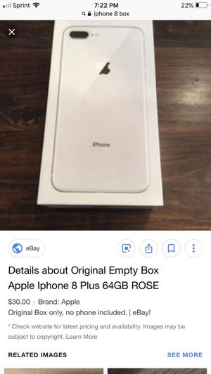 ISO iPhone 8 box for Sale in Salt Lake City, UT
