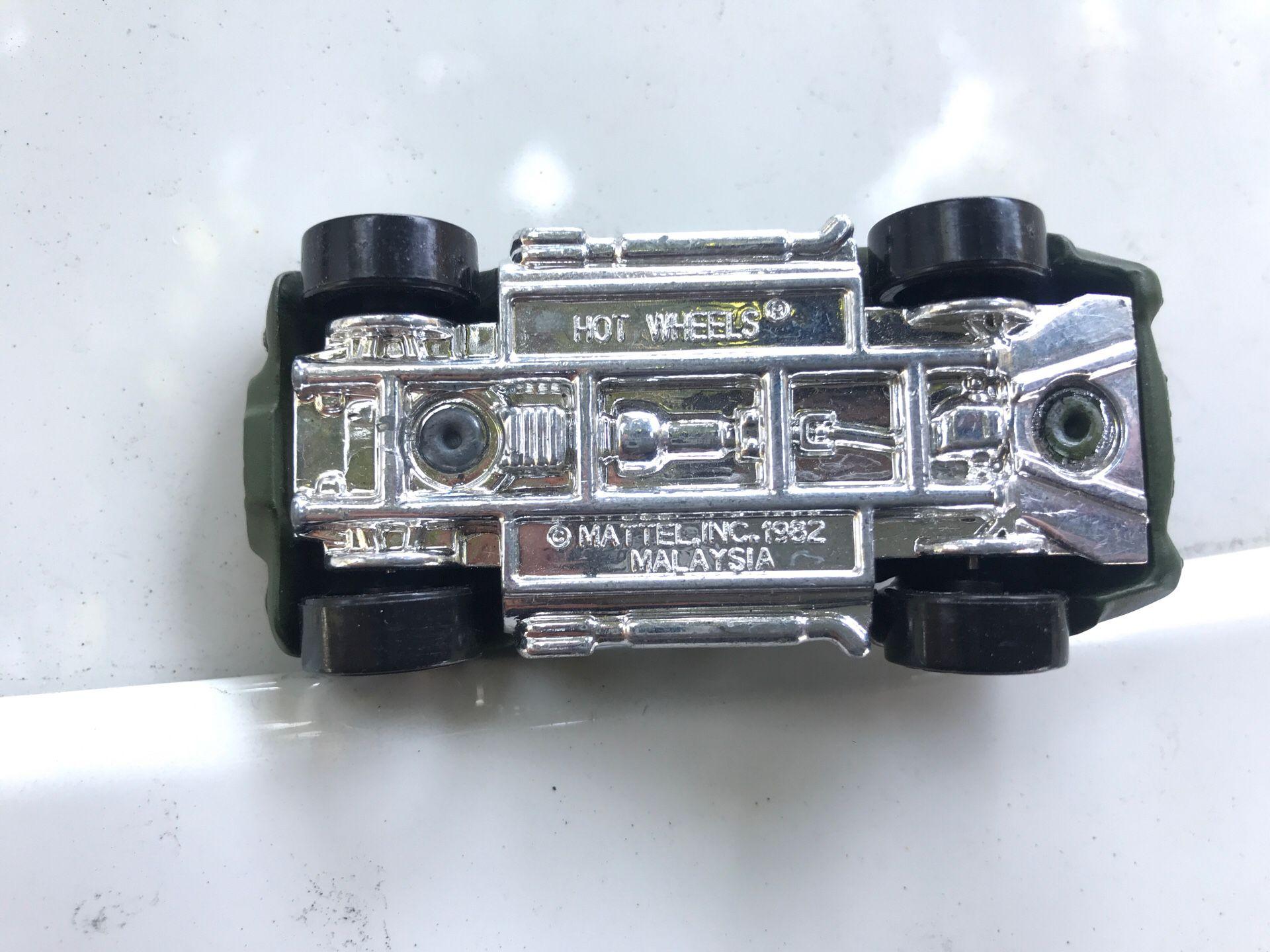 1982 Shelby cobra army hot wheels