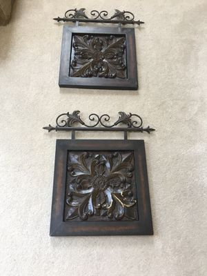 """2 metal wall hangings Each is 22"""" x 20 for Sale in Centreville, VA"""