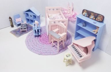 Dollhouse Miniature Baby Room Furniture & Accessories Thumbnail