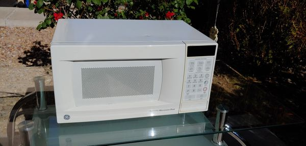 White Ge Small Microwave