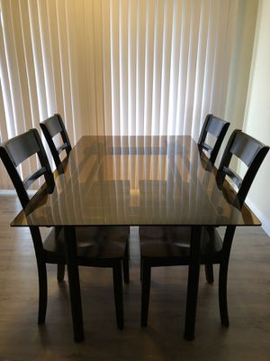 c3dbfc0e3dea3 Glass dining table with 4 chairs included for Sale in Torrance, CA