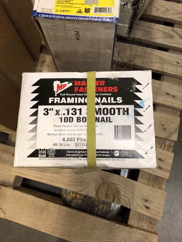 """3"""" x .131 Collated Full Round Head Smooth Box Nails Fit Hitachi NR83 ..."""