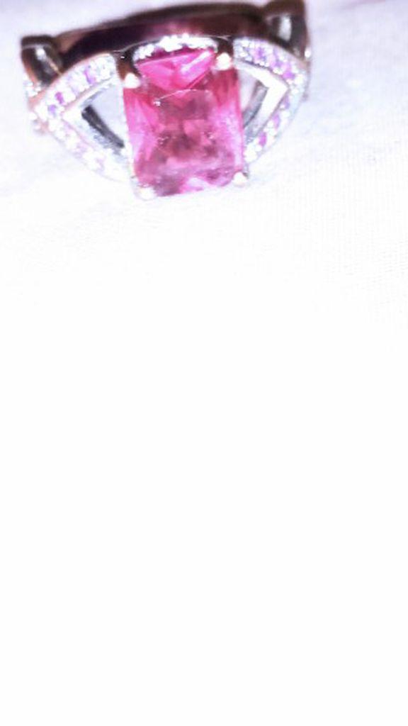 Pink Topaz Infinity Ring