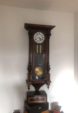 Antique 2 Weight Vienna Regulator Clock for Sale in Los Angeles, CA