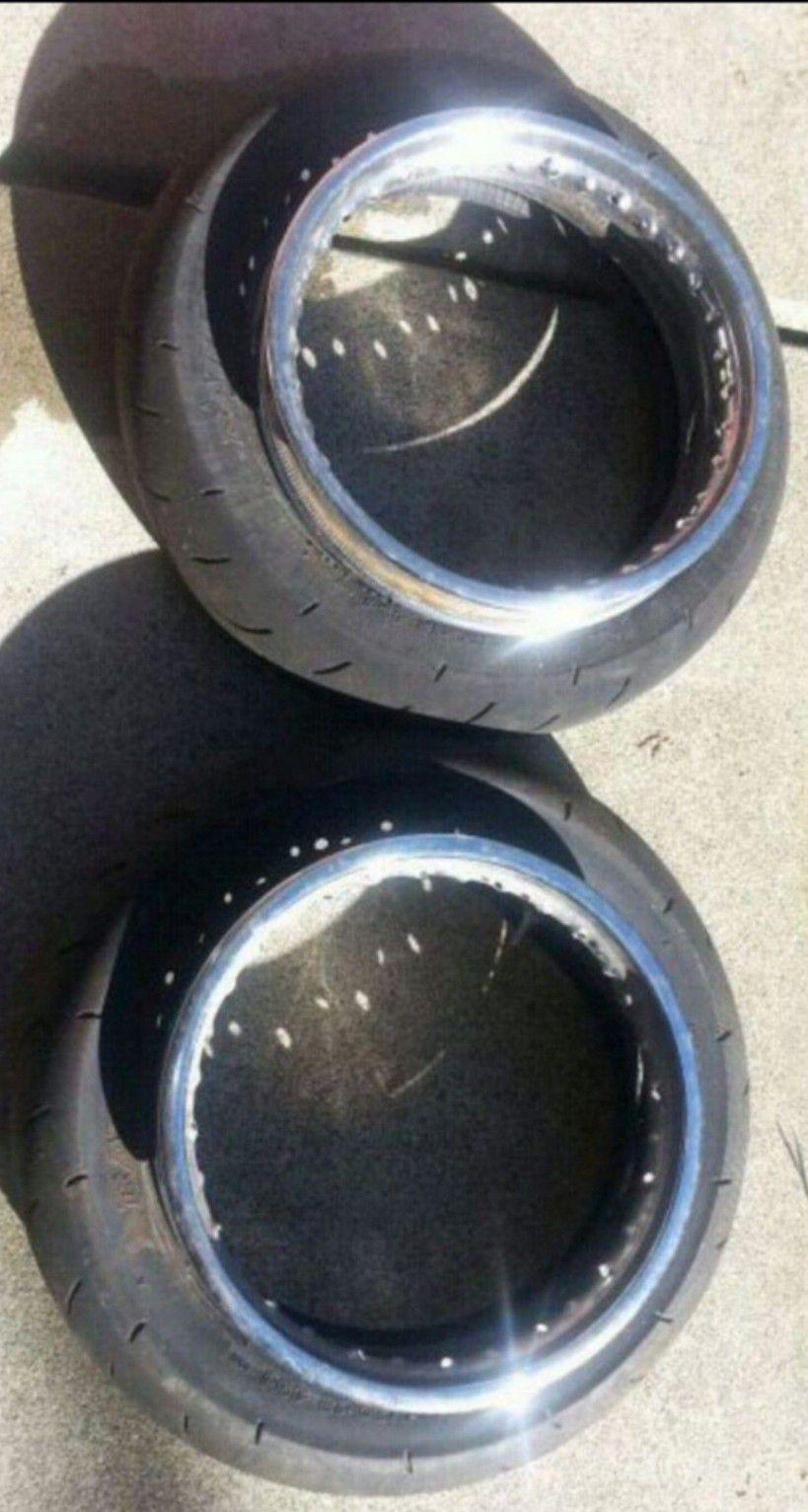 "12"" supermoto street tires, klx110 hoops"