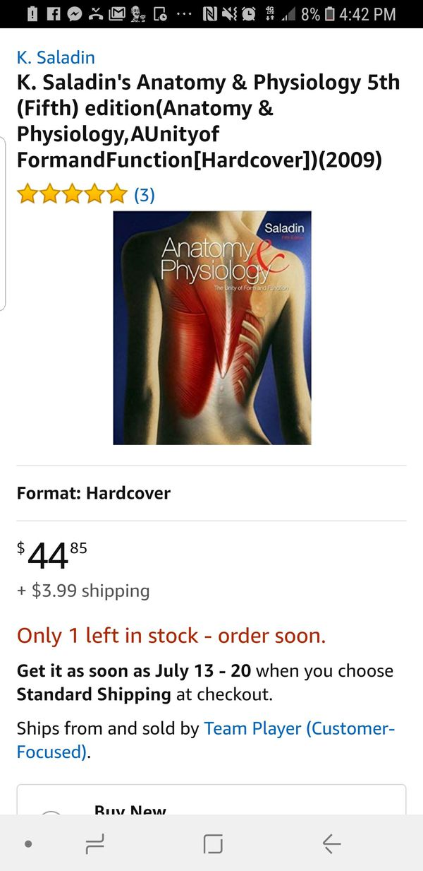 Anatomy & Physiology 5th Edition (Books & Magazines) in Gilbert, AZ ...