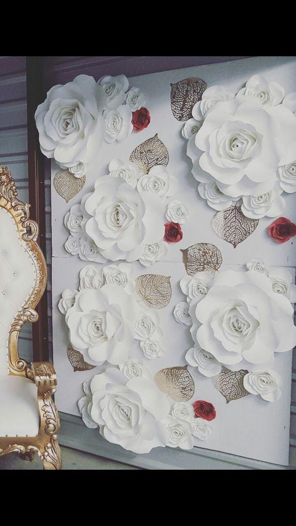 Paper Flower Wall Backdrop Wedding Birthday Baby Shower