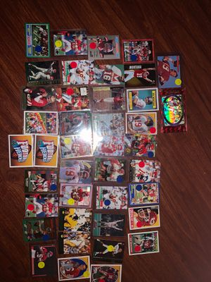 Photo Set of 38 highly sought after Joe Montana cards including 2 when he was at Norte Dame