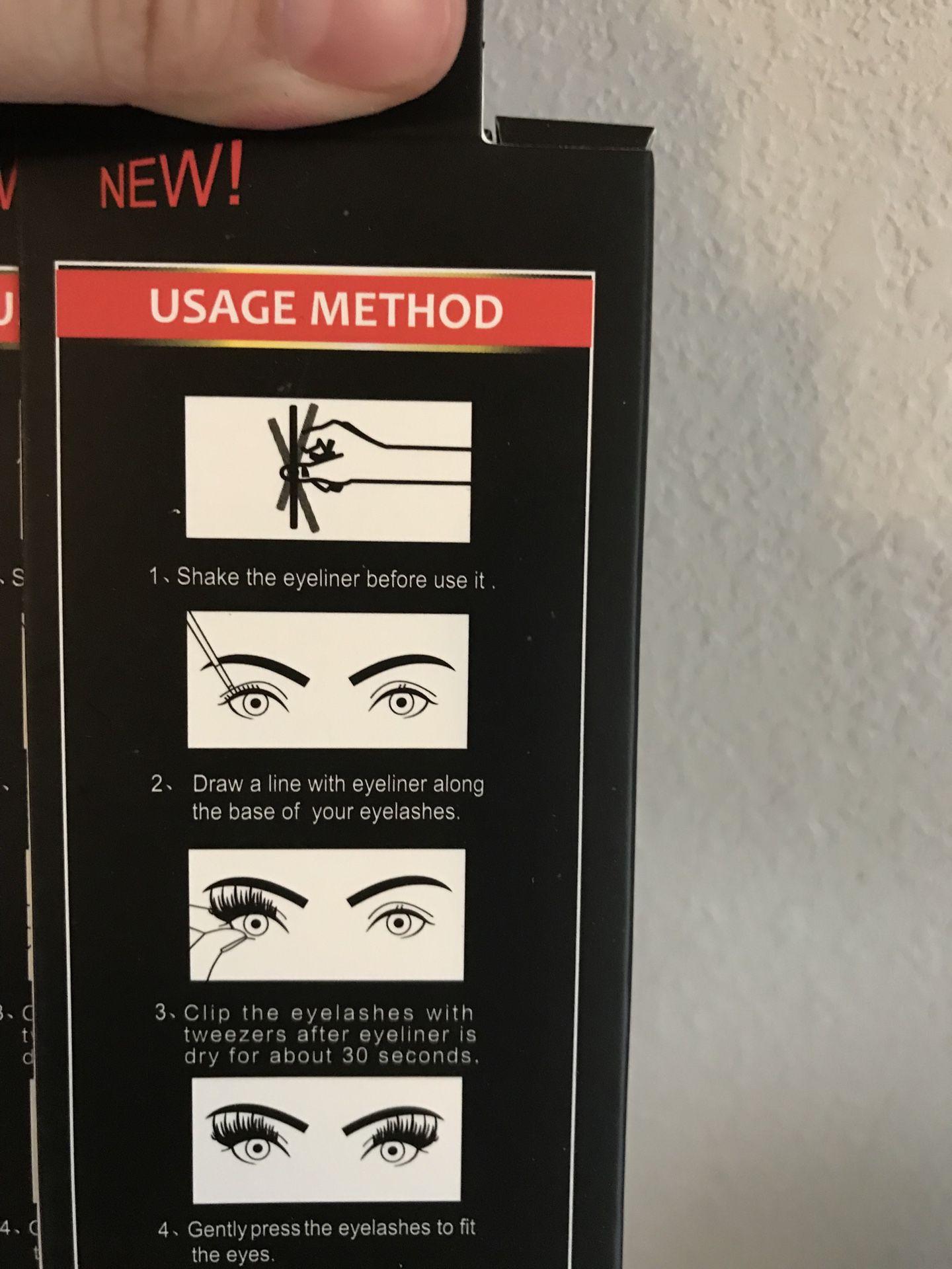 NEW Eye lash glue/ eyeliner
